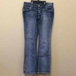Twentyone black bootcut button fly jeans